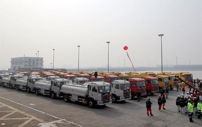 JAC Truck exports 5239 heavy trucks to Venezuela.