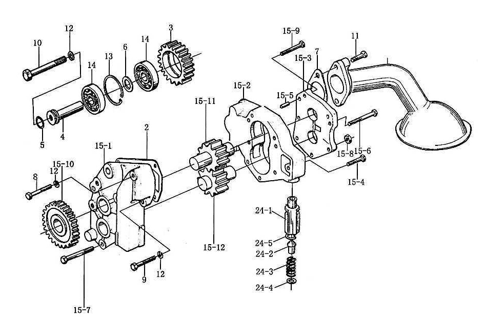 OIL PUMP AND FILTER 2, WD615, SINOTRUK HOWO SPARE PARTS CATALOG